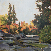"Along the Oxtongue  10"" x 10"" (acrylic)   SOLD"