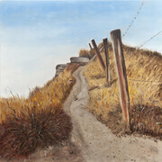 "Fence Line  24""x 24""  (oil)"