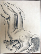 Figure Drawing (charcoal on toned paper)
