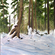 "Forest Drifts  12"" x 12""  (oil)"