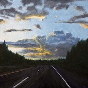 "Highway Clouds 12"" x 12"" (oil)"