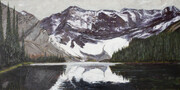 Mount Sarrail from Rawson Lake (acrylic)  SOLD