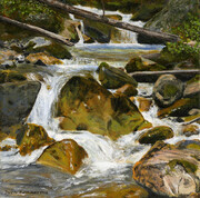"Sinclair Creek   8"" x 8""   (acrylic)  SOLD"