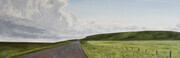"South of Strathmore 12"" x 36"" (acrylic)"