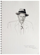 William S Burroughs -  Graphite and ink
